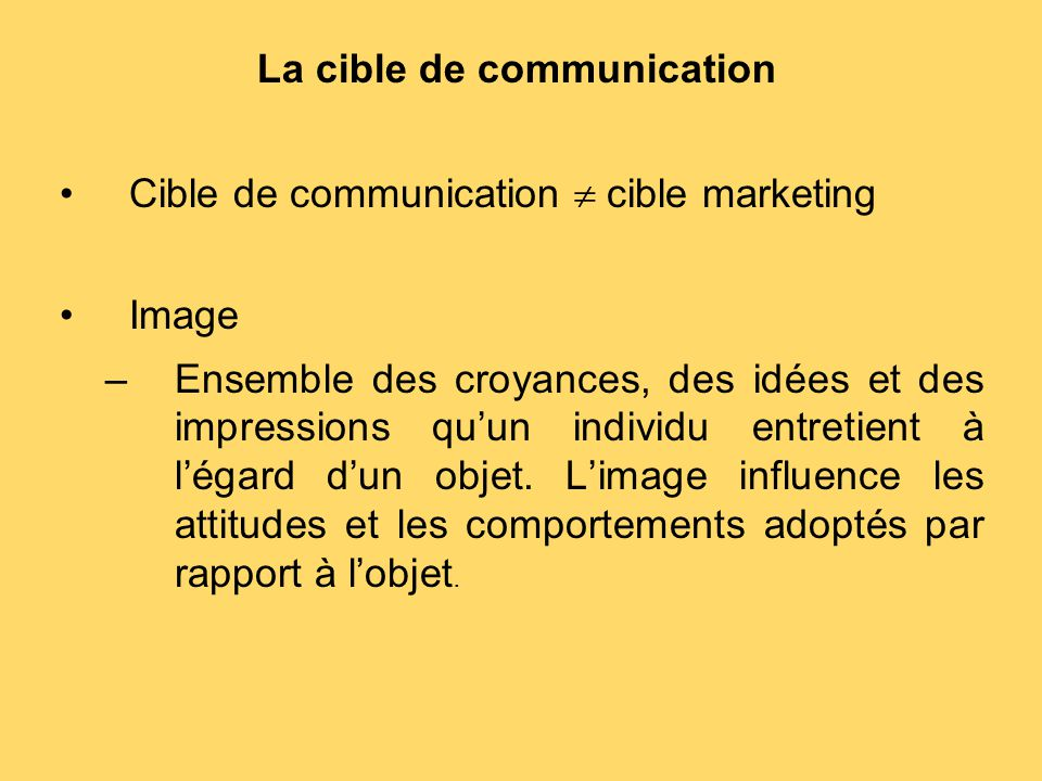La cible de communication