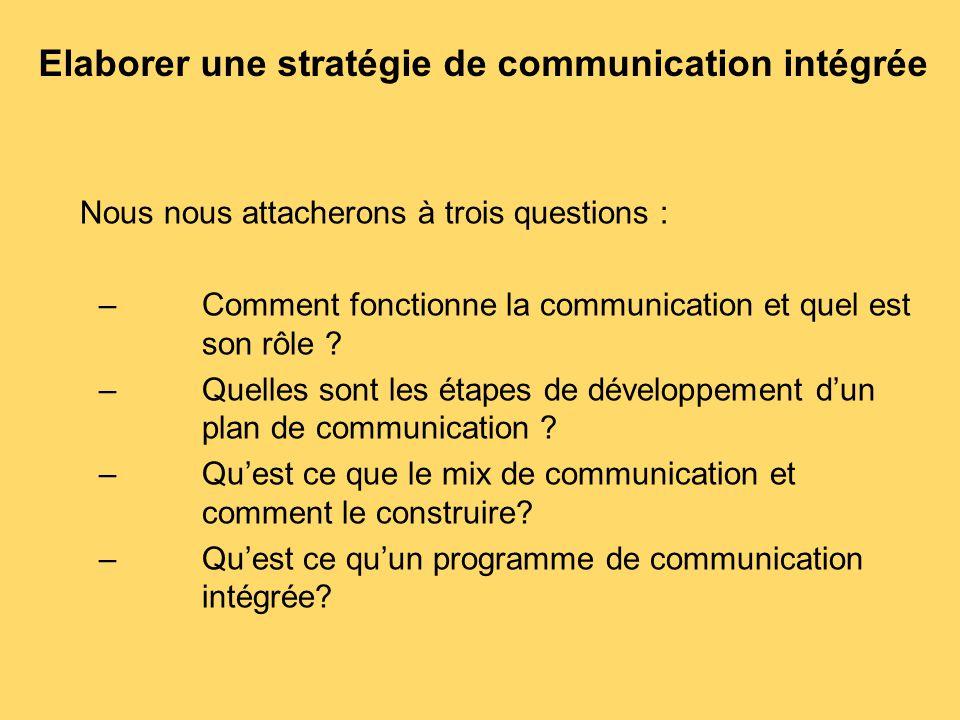 Elaborer une stratégie de communication intégrée