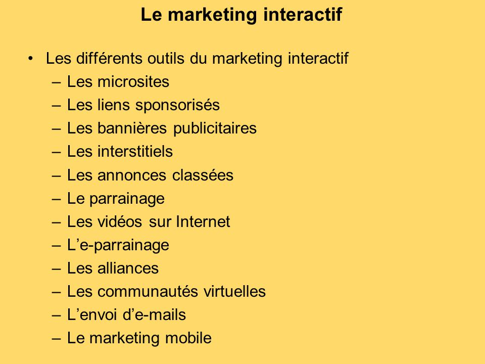 Le marketing interactif