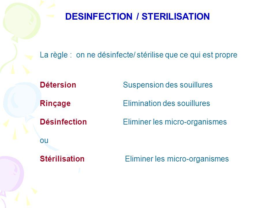 DESINFECTION / STERILISATION