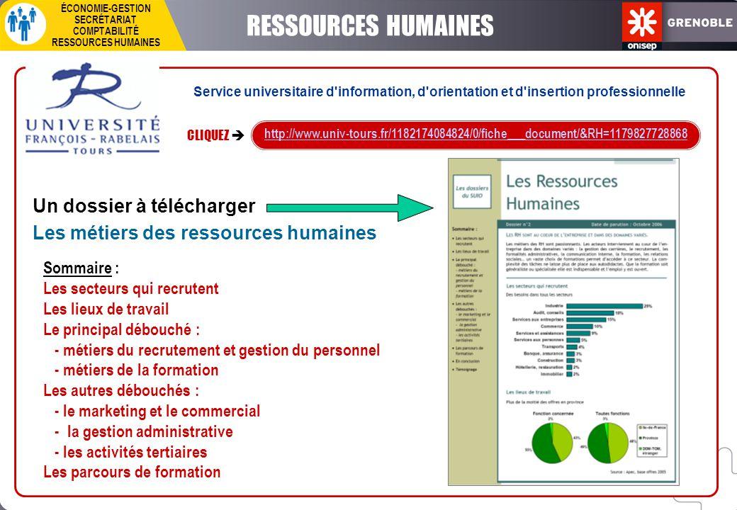 RESSOURCES HUMAINES Un dossier à télécharger
