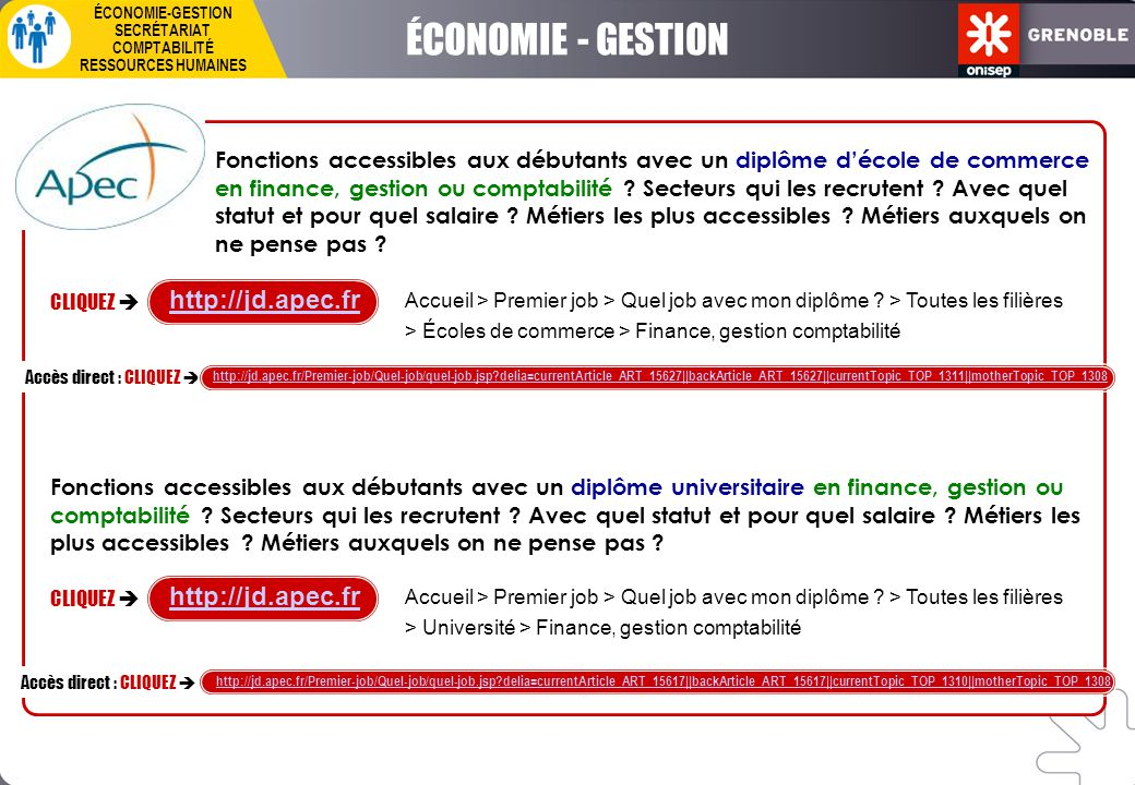 ÉCONOMIE - GESTION http://jd.apec.fr http://jd.apec.fr