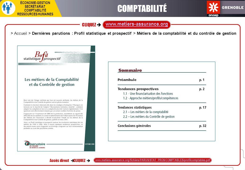 COMPTABILITÉ www.metiers-assurance.org CLIQUEZ è