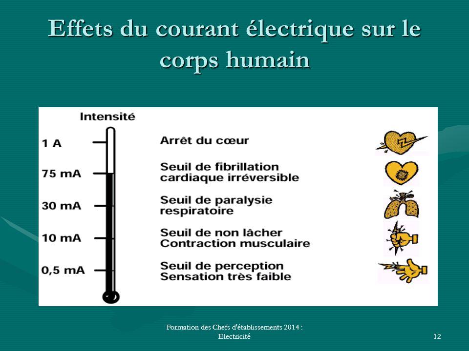 Effets du courant électrique sur le corps humain