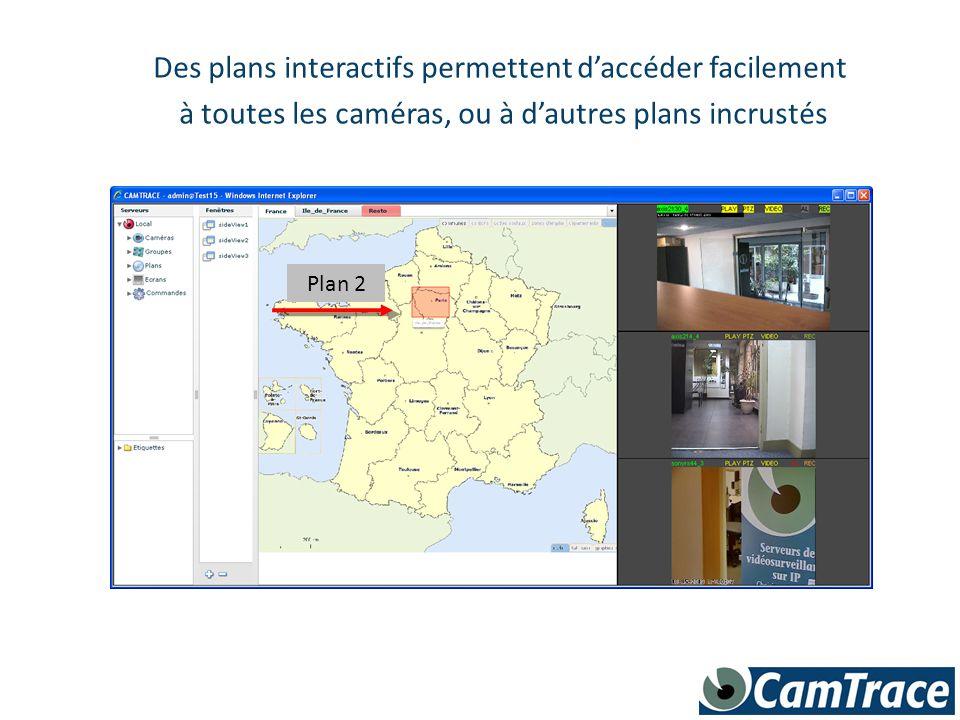 Des plans interactifs permettent d'accéder facilement