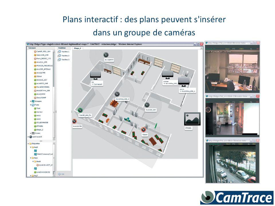 Plans interactif : des plans peuvent s insérer
