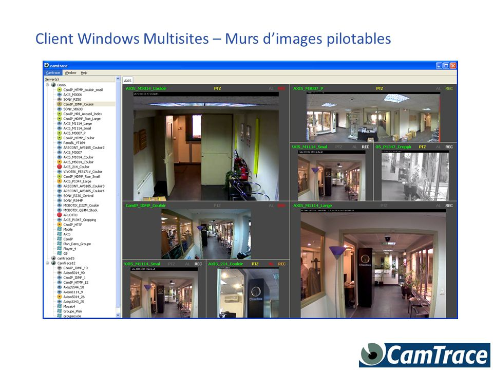 Client Windows Multisites – Murs d'images pilotables