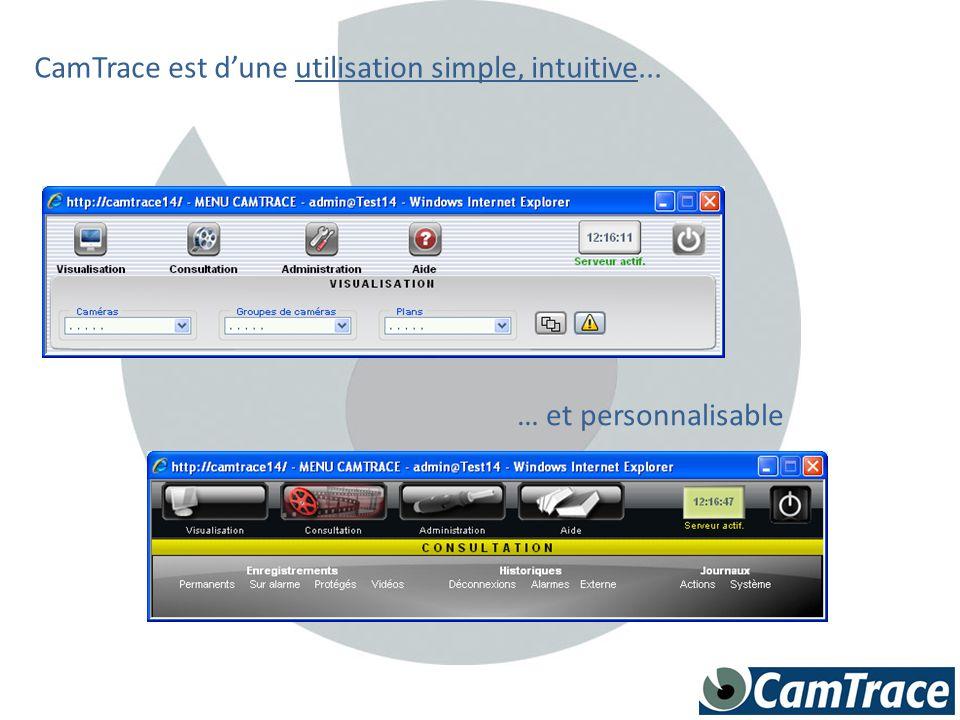 CamTrace est d'une utilisation simple, intuitive...