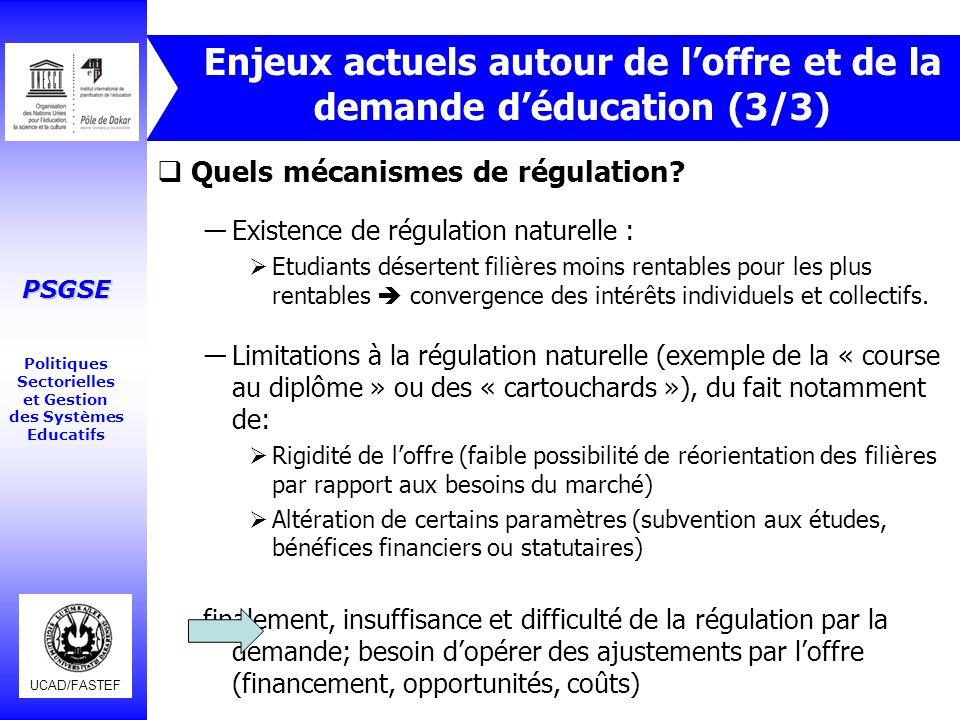 Enjeux actuels autour de l'offre et de la demande d'éducation (3/3)