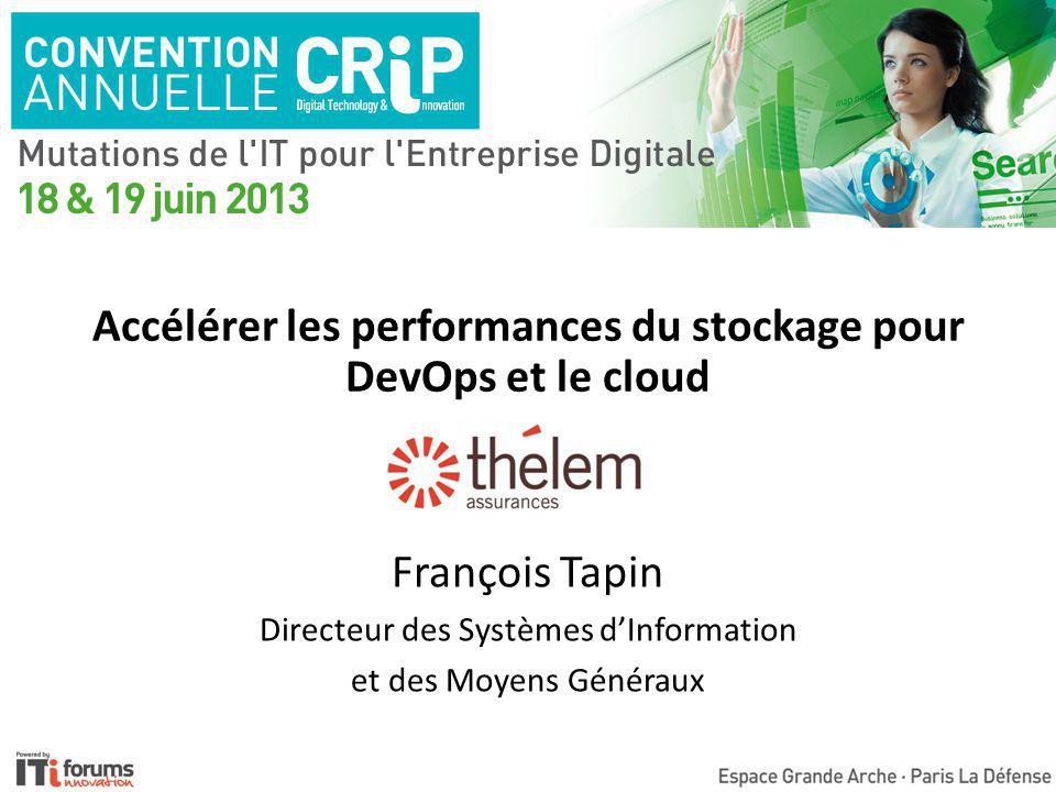 Accélérer les performances du stockage pour DevOps et le cloud