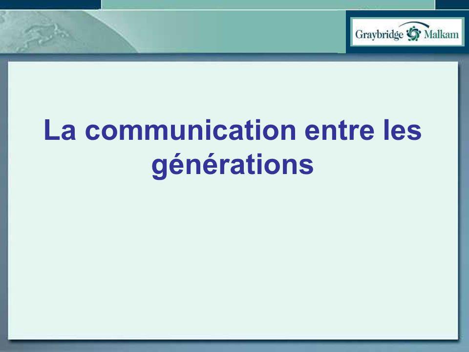La communication entre les générations