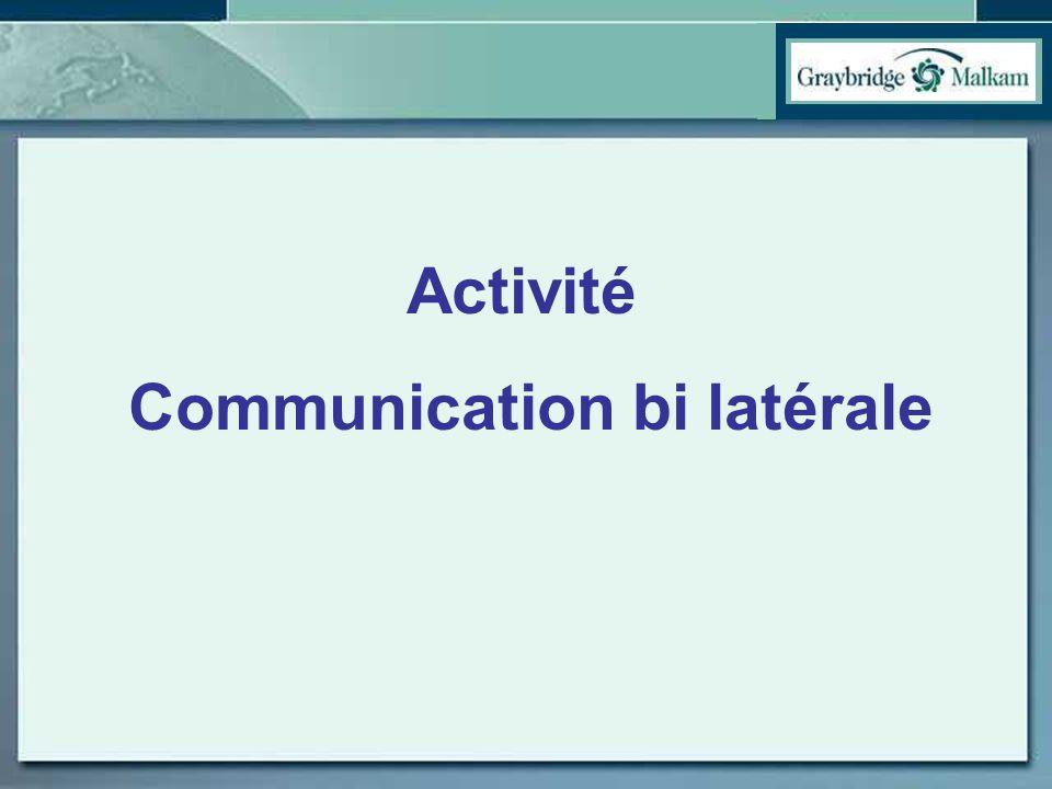 Communication bi latérale
