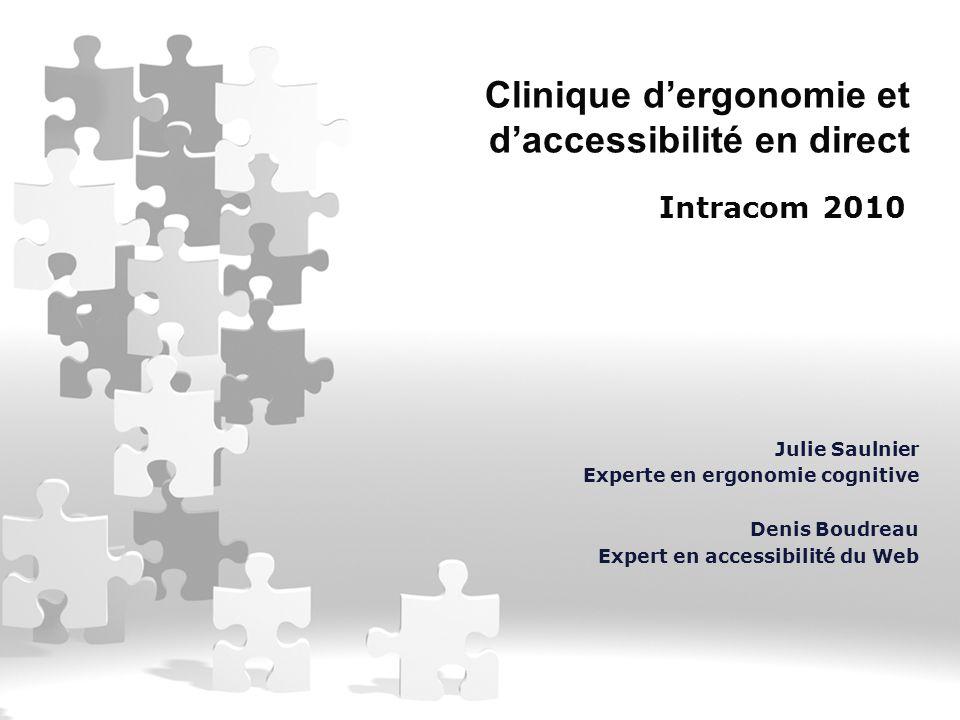 Clinique d'ergonomie et d'accessibilité en direct