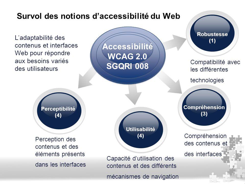 Survol des notions d'accessibilité du Web