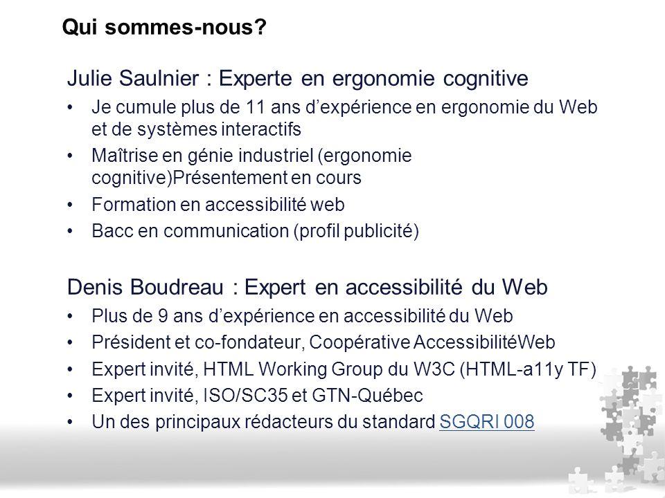 Julie Saulnier : Experte en ergonomie cognitive