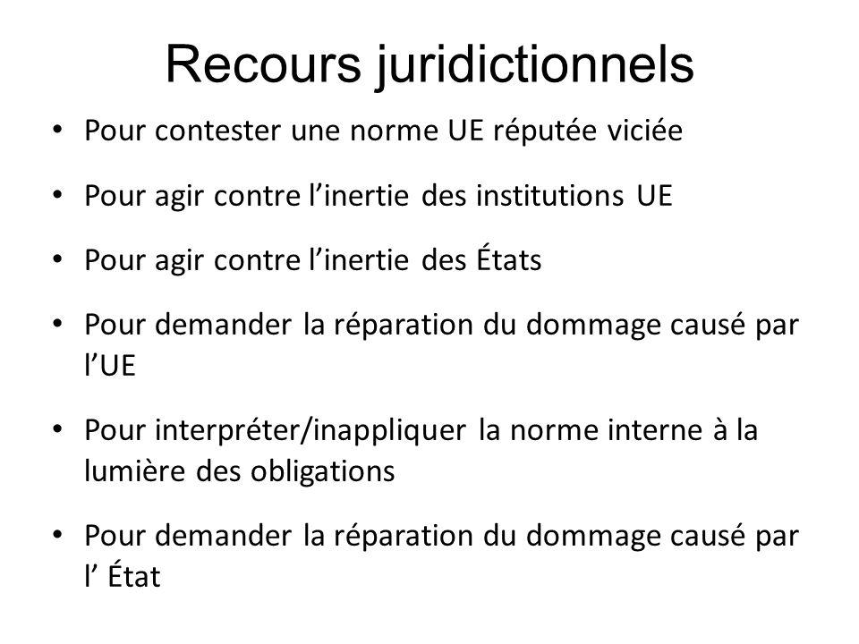 Recours juridictionnels