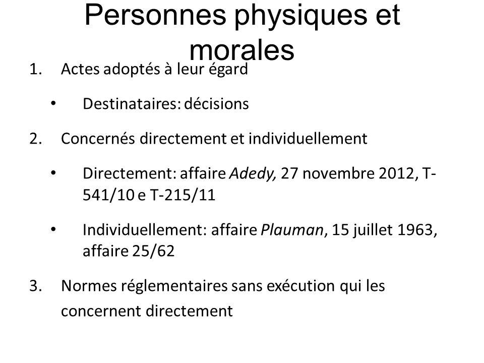 Personnes physiques et morales