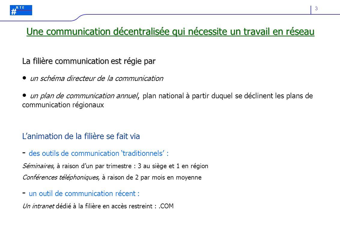 Une communication décentralisée qui nécessite un travail en réseau