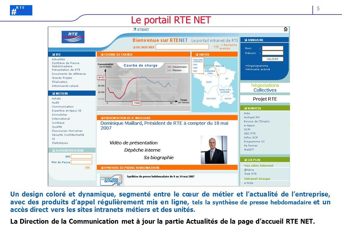 Le portail RTE NET