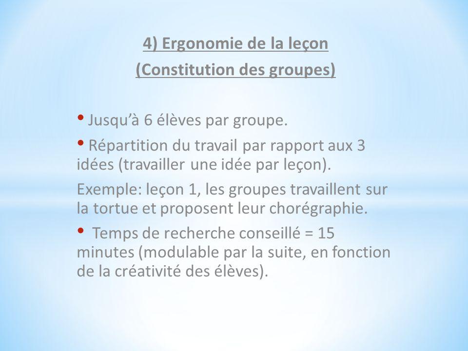 (Constitution des groupes)