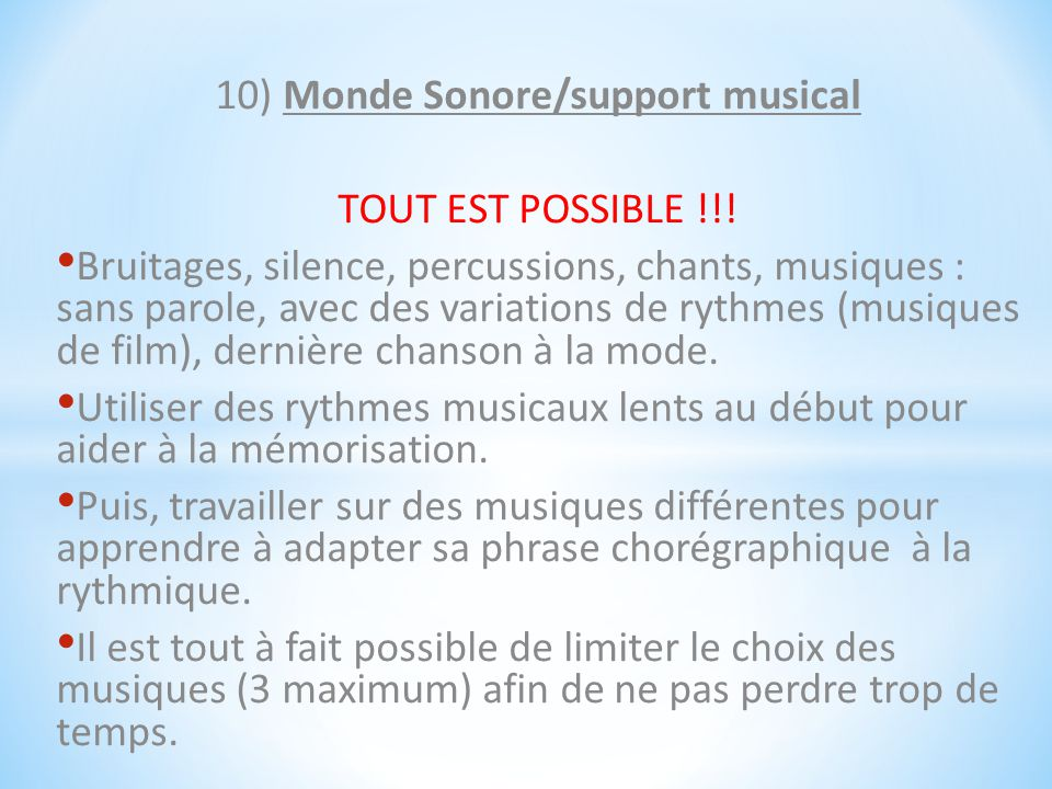 10) Monde Sonore/support musical