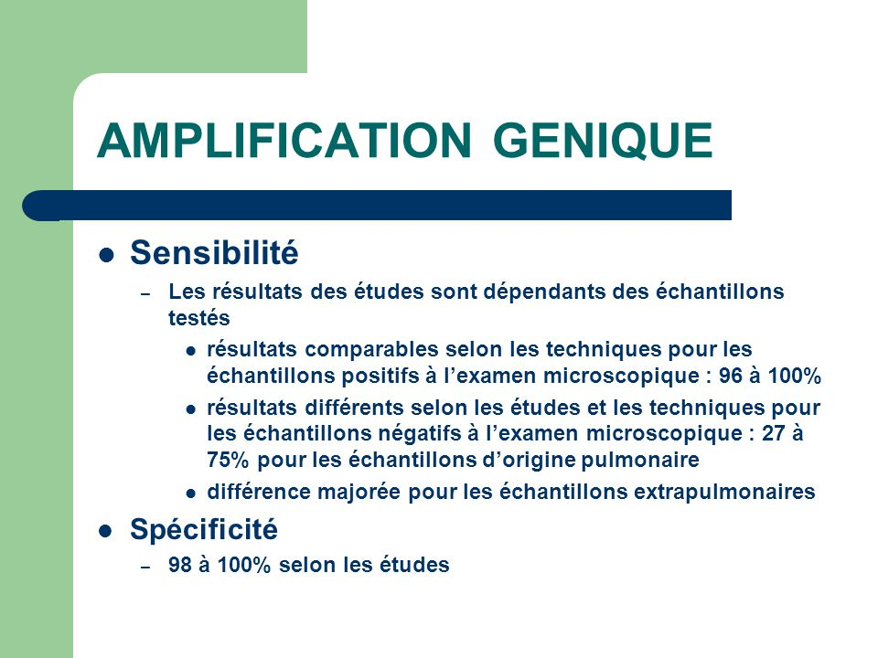 AMPLIFICATION GENIQUE