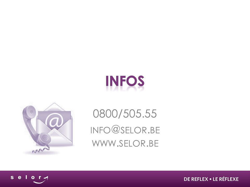0800/505.55 info@selor.be www.selor.be