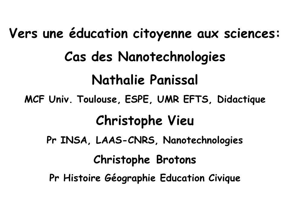 Vers une éducation citoyenne aux sciences: Cas des Nanotechnologies