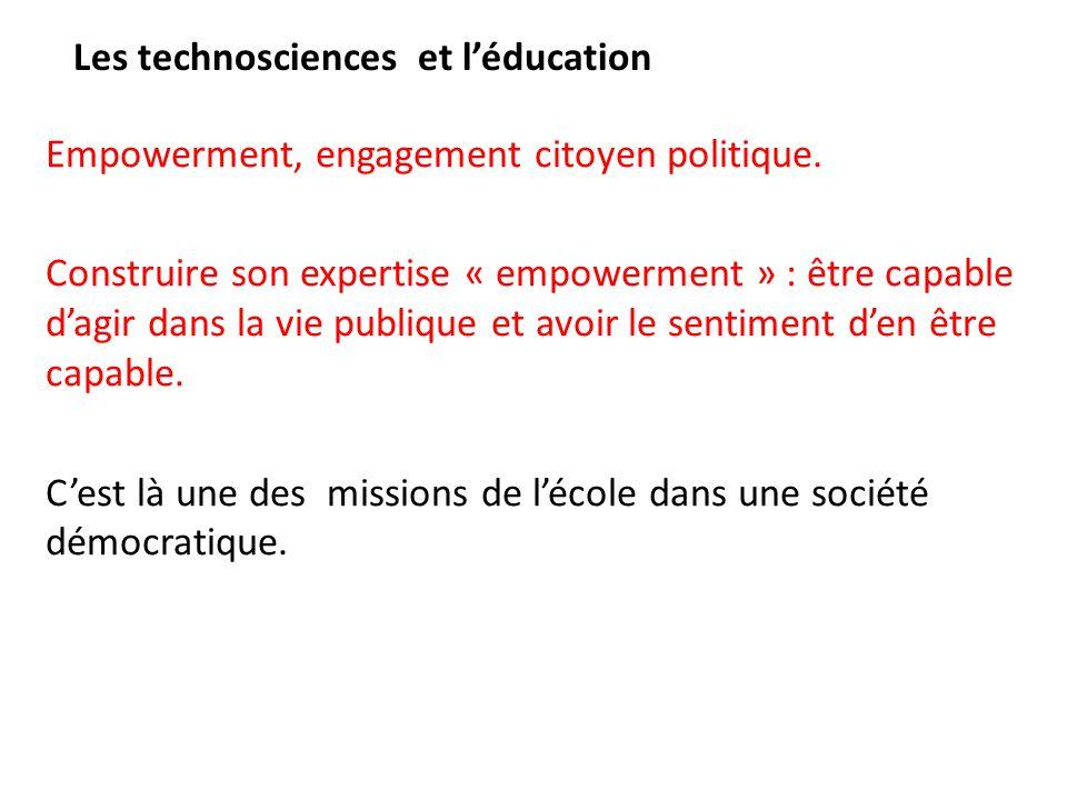Les technosciences et l'éducation