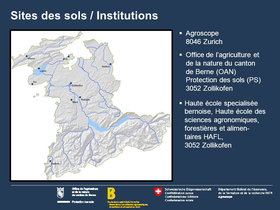 Sites des sols / Institutions