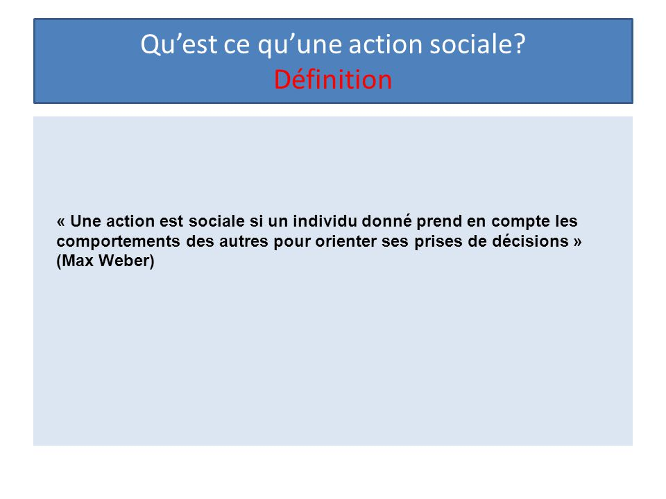Qu'est ce qu'une action sociale