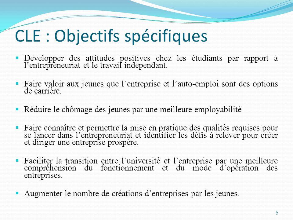 CLE : Objectifs spécifiques