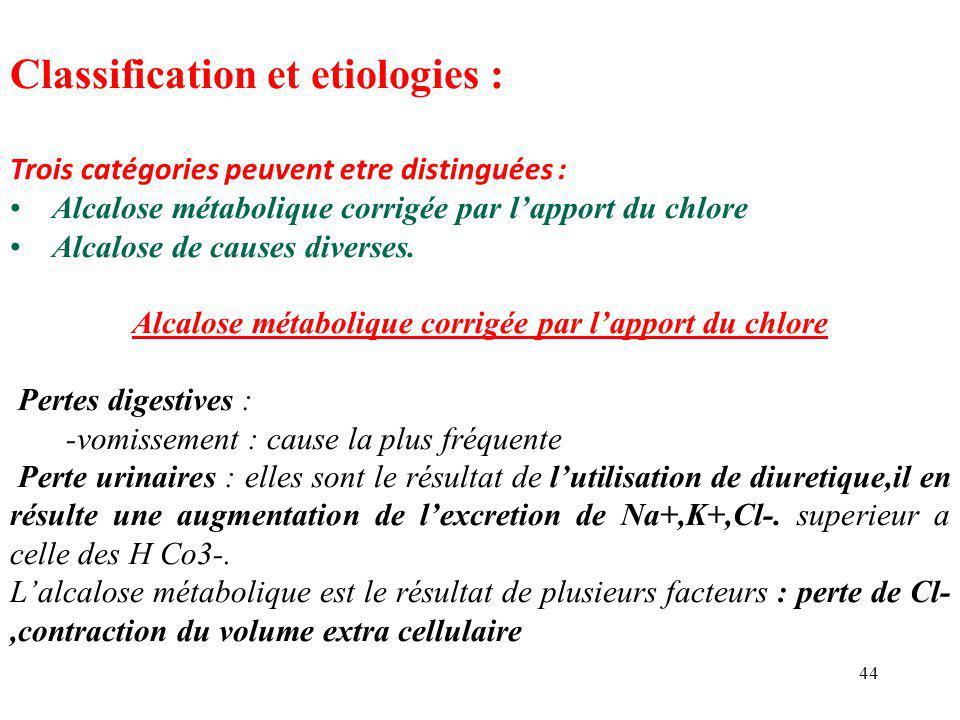 Classification et etiologies :