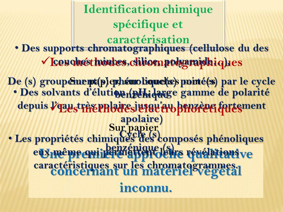 Identification chimique spécifique et caractérisation