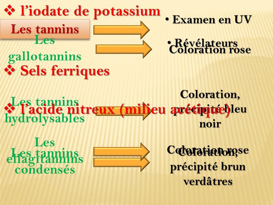 l'acide nitreux (milieu acétique)