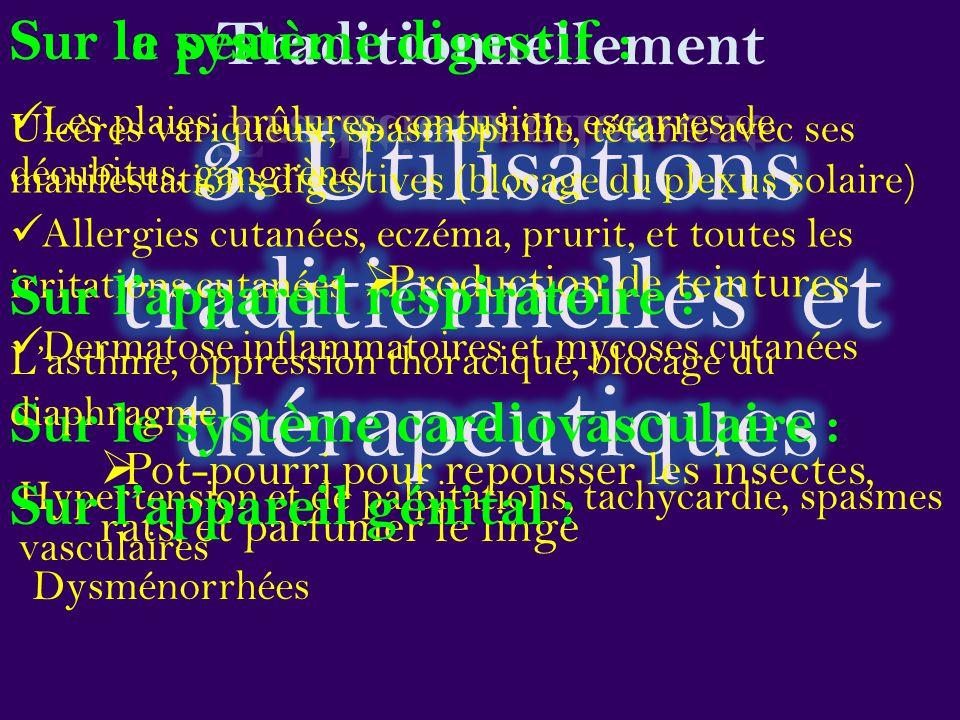 3. Utilisations traditionnelles et thérapeutiques