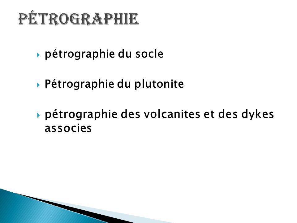 Pétrographie pétrographie des volcanites et des dykes associes