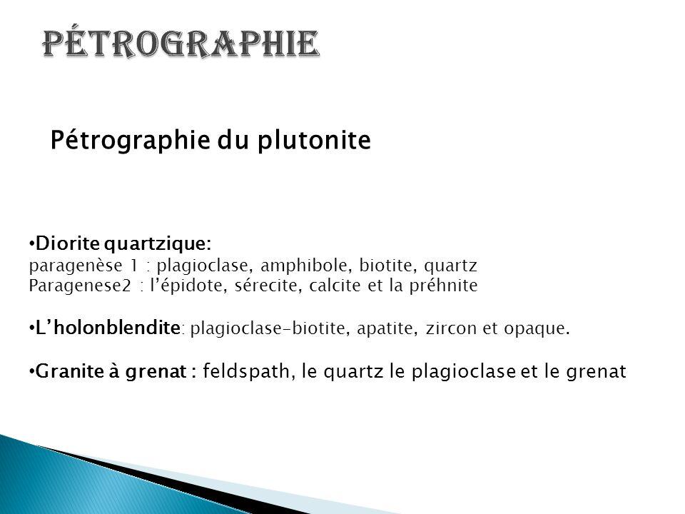 Pétrographie Pétrographie du plutonite Diorite quartzique: