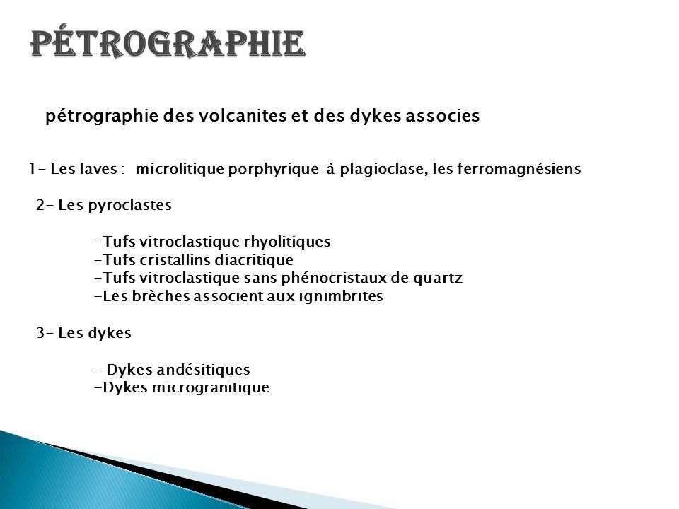 Pétrographie 2- Les pyroclastes -Tufs vitroclastique rhyolitiques
