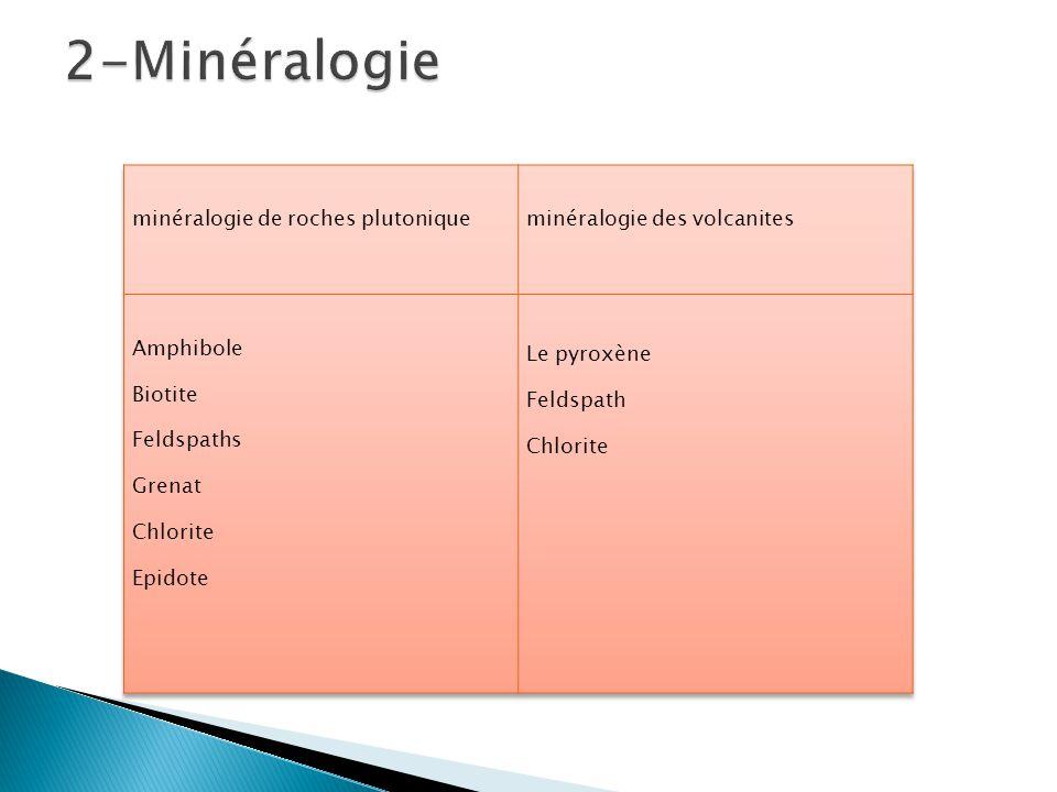 2-Minéralogie minéralogie de roches plutonique