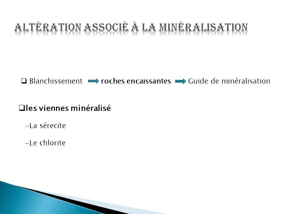 Altération associé à la minéralisation