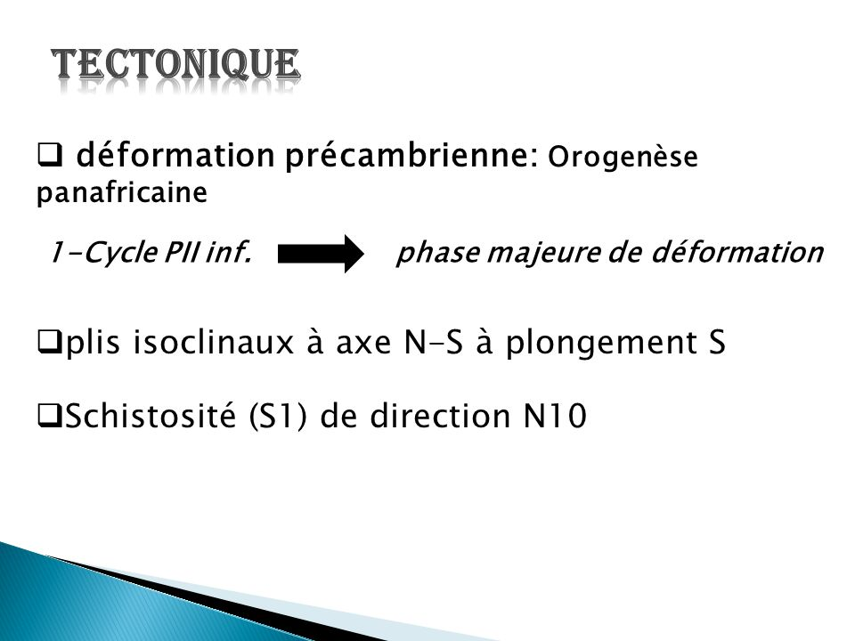 1-Cycle PII inf. phase majeure de déformation