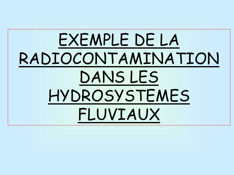 EXEMPLE DE LA RADIOCONTAMINATION DANS LES HYDROSYSTEMES FLUVIAUX