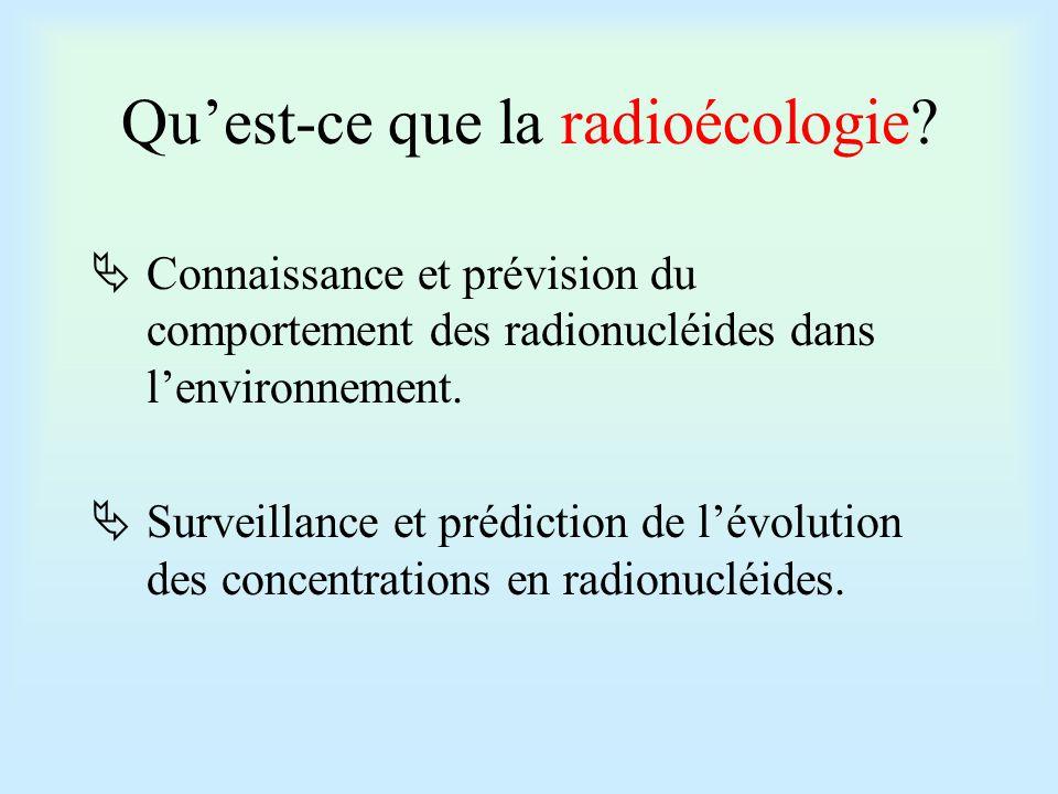 Qu'est-ce que la radioécologie