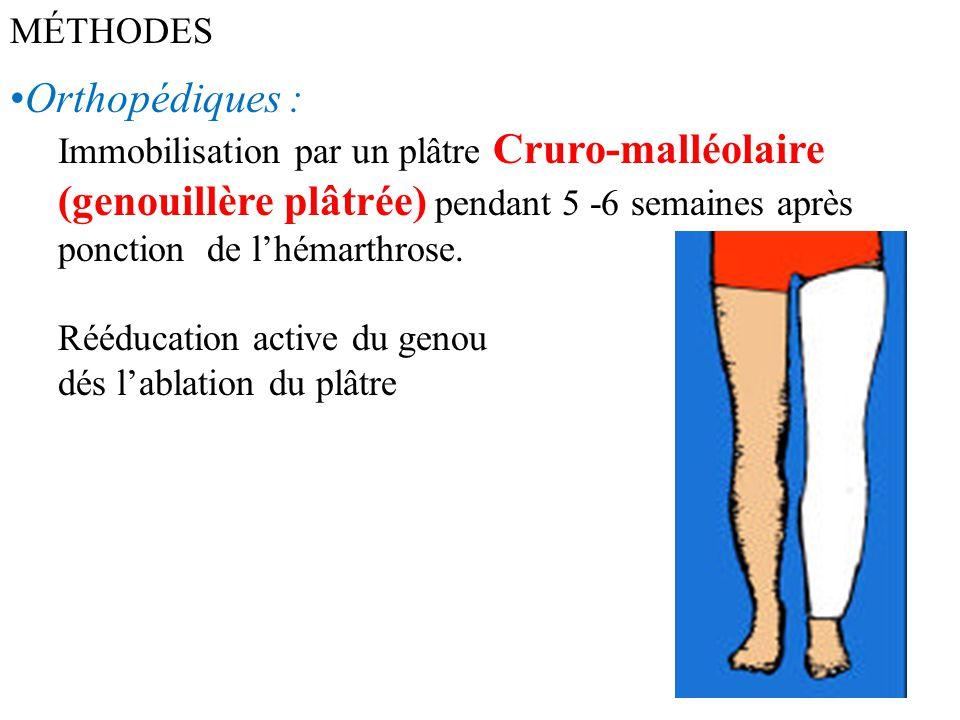 Orthopédiques : MÉTHODES