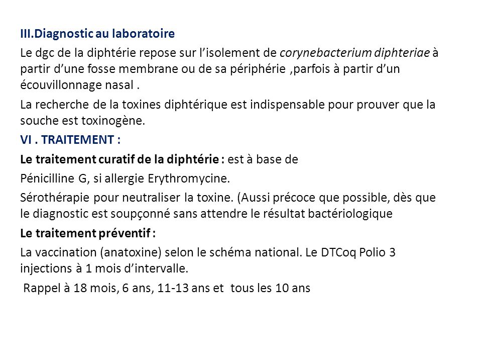 III.Diagnostic au laboratoire