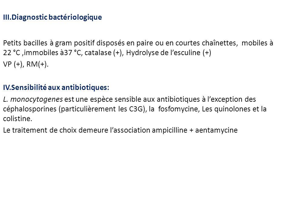 III.Diagnostic bactériologique