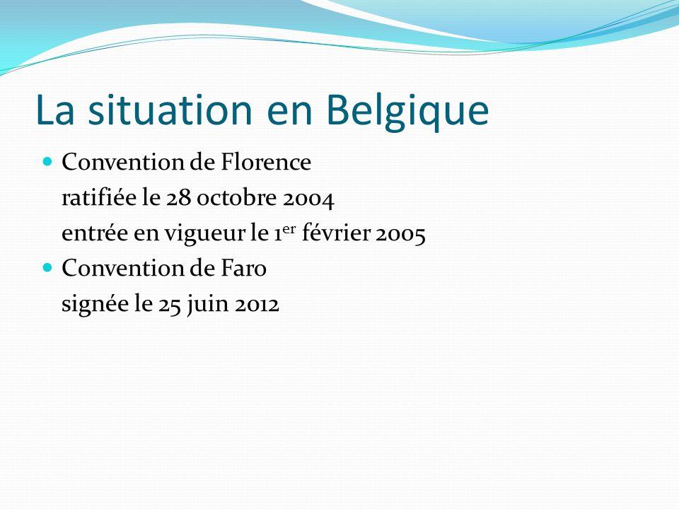 La situation en Belgique