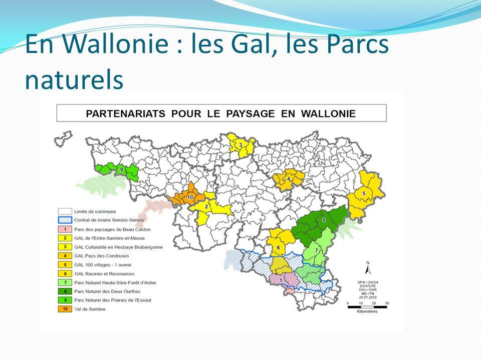 En Wallonie : les Gal, les Parcs naturels