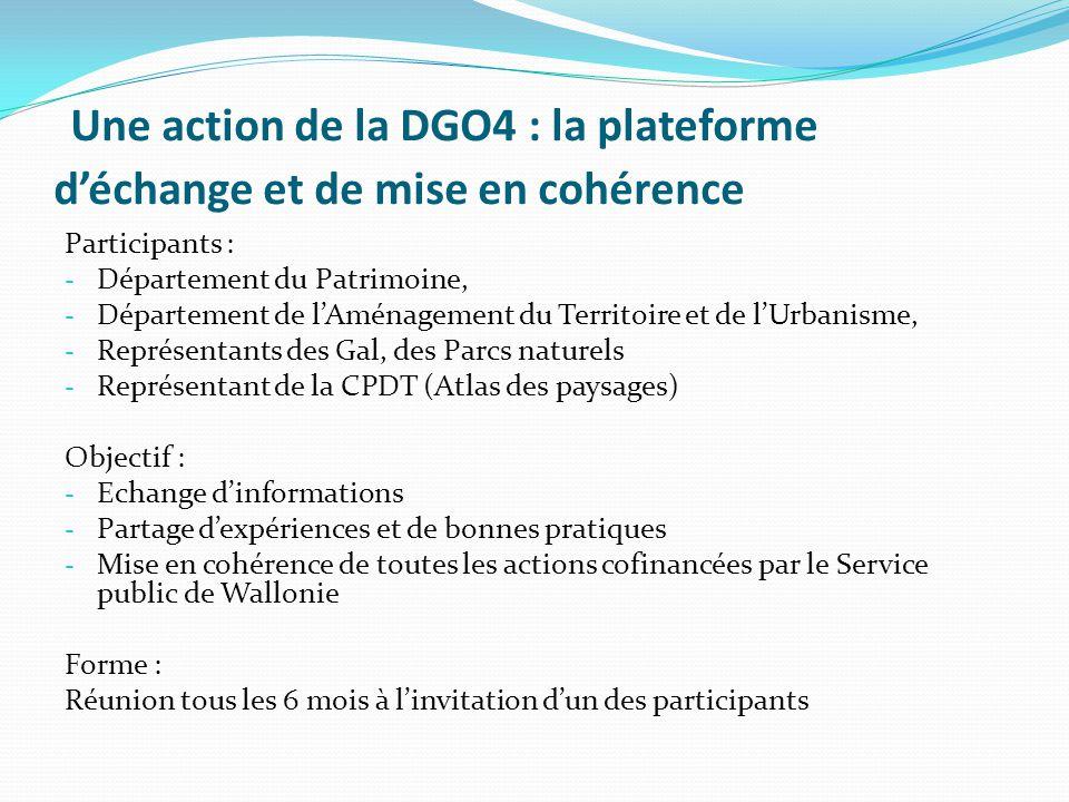 Une action de la DGO4 : la plateforme d'échange et de mise en cohérence